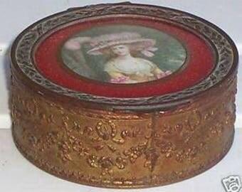 French Miniature Portrait Trinket Casket Box