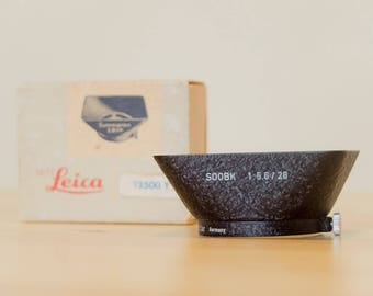 Perfect Leica SOOBK 12500 lens hood NEW OLDSTOCK extremely rare leica hood for Summaron 28mm f/5.6