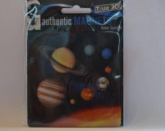 3D - Space magnet pad - Solar System - round - diameter 9 cm