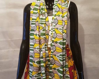African print scarf/Neck scarves/neck wrap/shawl/Ankara scarf/