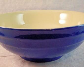 Vintage Oxford Pottery Blue & White Fruit or Salad Bowl - Excellent Condition