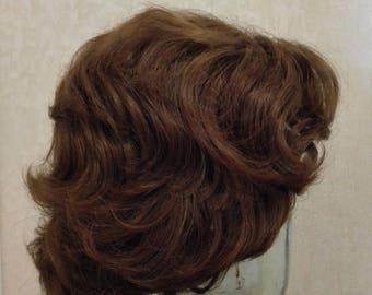 Wigs women Wig Vintage Women Wig Hair Wig Dark Brown Wigs for Women Wig brown Brown hair Vintage Women Wig Dark Brown Women Hair Wig Vintage