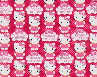 patchwork fabric child white kitty cat pink cupcake bow logo