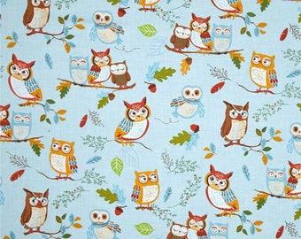 Robert Kaufman FOREST fellow OWLS kids patchwork coupon