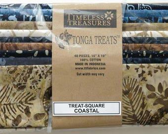 lot 40 coupons Coastal Timeless TREASURES batik patchwork fabric