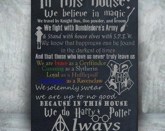 Harry Potter canvas//Harry Potter art//Harry Potter Decor//We do Harry Potter//Canvas Art//Harry Potter Gift//geek decor
