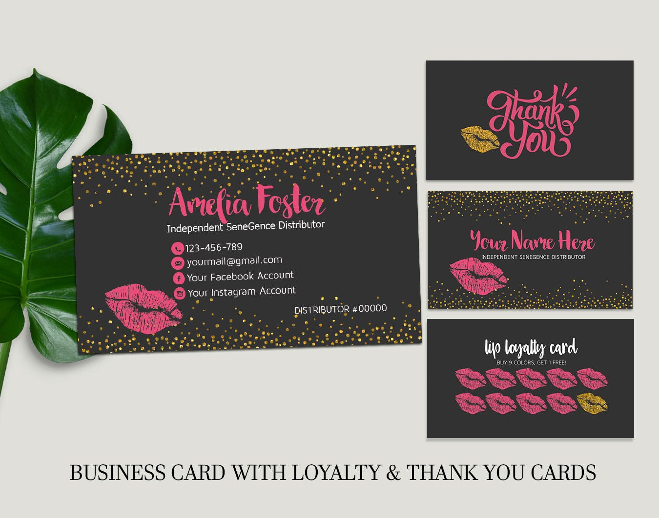 Lipsense business cards lip sense senegence business cards zoom magicingreecefo Images