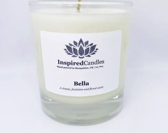 Bella- Floral Scented Candle, Scented Candle, Candle Gift, Soy Wax Candle, Vegan Candle, Hand poured Candle, Personalised Candle, Soy Candle