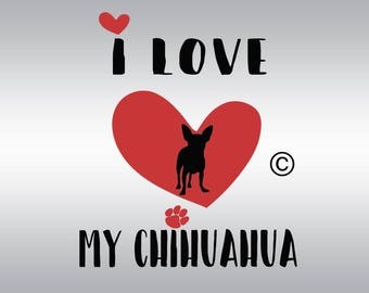 Download Chihuahua dog heartbeat SVG Clipart Cut Files Silhouette ...