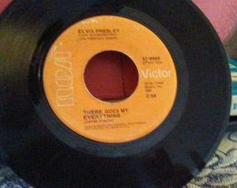 There Goes My Everything and I Really Don't Want to Know Elvis Presley 1971 RCA 45 Single Vinyl Record
