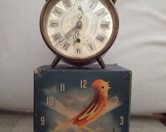 "vintage antiquite clock ""JAZ""  1960 with alarm and in working condition"
