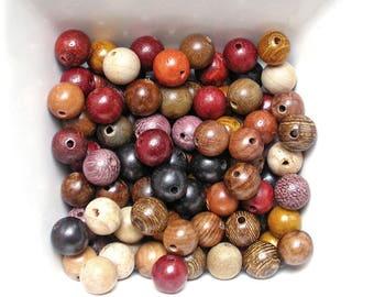 Beads 8mm sandal wood, wenge and pine