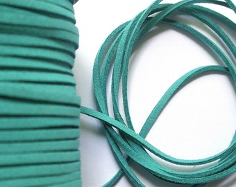 3 m turquoise 3 mm suede cord
