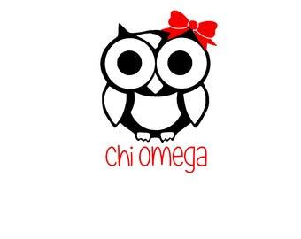 Chi Omega Car Decal , Sorority, Bid Day, Laptop decal, Water bottle decal