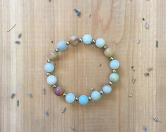 Mala Bead Bracelet | Amazonite Beads | Mala Bracelet | Yoga Bracelet