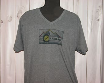 A Subtle Nod to Pickleball Gray T-shirts