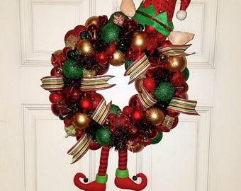 Elf Ornament wreath