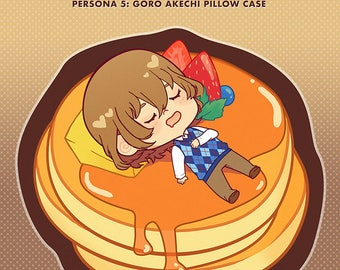 Persona 5: Delicious Akechi Pancake Pillow Case