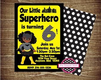 Batman Girl Birthday Digital Invitation/Printable Invitation/Batgirl Party/Batgirl Birthday/Lego Batgirl Theme/Lego Batman Party/Batman