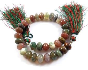 1 Strand Multi Agate Rondelles, Multi Agate Roundel Beads 8.5mm-9mm, 8 Inches Strand Multi Agate Rondelle Beads # 0095