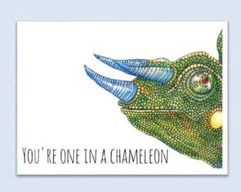 Greeting Card - Chameleon