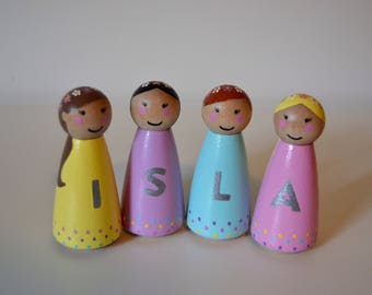 Personalised Name Peg Dolls