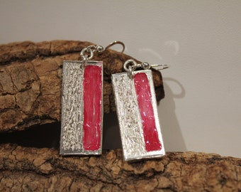 Pink Bark Earrings