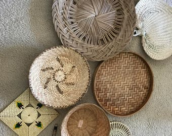 8 piece Wall basket collection