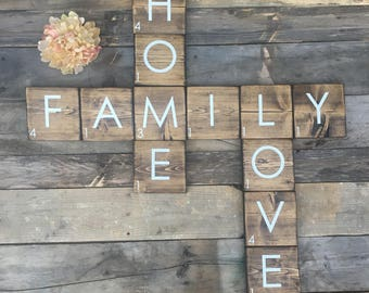 Wall Scrabble Board Etsy