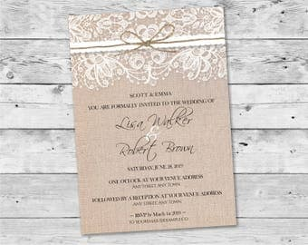 rustic wedding invitation printable rustic wedding invite country barn pdf template download design id - Country Rustic Wedding Invitations