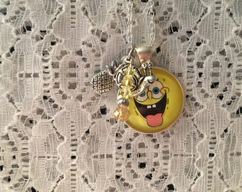 SpongeBob SquarePants Charm Necklace/SpongeBob SquarePants/SpongeBob SquarePants Jewelry/SpongeBob SquarePants Necklace