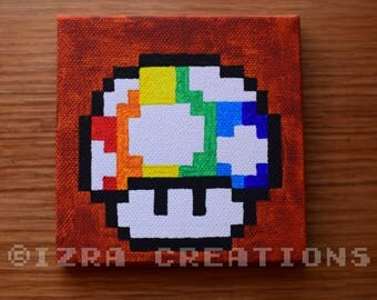 tableau peinture pixel art pokemon sacha et pokeball. Black Bedroom Furniture Sets. Home Design Ideas