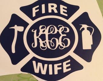 Infinity Firefighter Wife Axe Necklace Helmet Fireman Wife