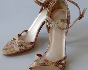 Stuart Weitzman Sandals Designer Shoes Snake Pattern