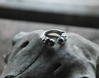 Chunky Silver and CZ ring