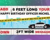 Police Banner, Police Birthday, Police party, Police decorations, Police theme,Birthday banner,party banner,vinyl banner,baby shower