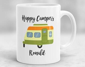 Happy Campers Mug, Custom Camping Mug, Adventure Awaits Mug, Camping Gift, Personalized Camping Cup P203
