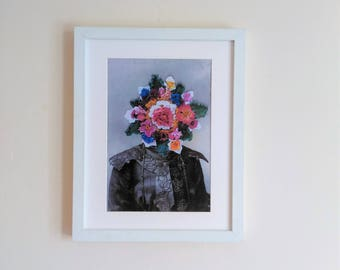 Collage  Print. Vintage Portrait wall art. They Couldn't Believe How Much She Had Blossomed Recently.