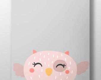 Owl print, be wise print, new baby gift, baby shower gift, owl nursery print, woodland nursery decor, baptism gift, woodland print