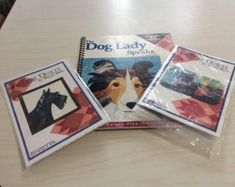 The Dog Lady Speaks + 2 other patterns by Sharon Malec.