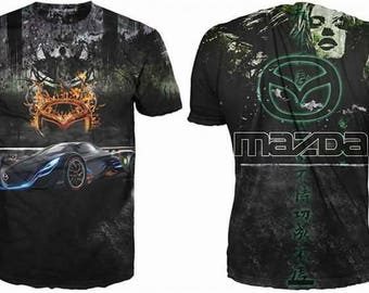 New ultramodern 3D  High Quality Mazda Green   Men's T-shirt