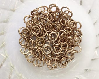 "18g 3/16 ""chainmaille saw cut jump rings, champagne jump rings, DIY chainmaille, chainmaille supplies, champagne rings, Tessa's chainmail"