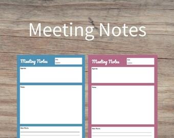meetings notes
