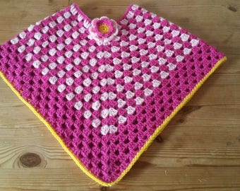Child's Crochet Poncho Age 3-4