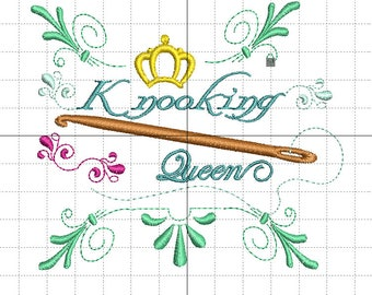 "Embroidery ""Knooking Queen"""