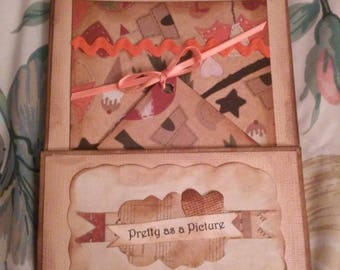 Altered paper bag birthday card