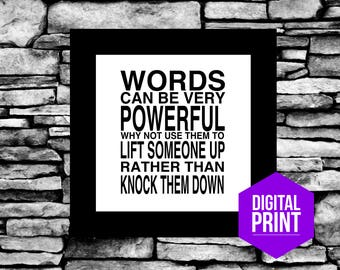 Anti Bullying Art Quotes Inspirational Words Matter Words Of Wisdom Wall Words Can Be Very Powerful Quotes Love Inclusion Tolerance