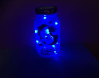 Mermaid LED Mason Jar Light