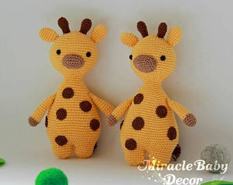 Crochet giraffe toy animal soft toy baby gift kids toy nursery toy baby gift