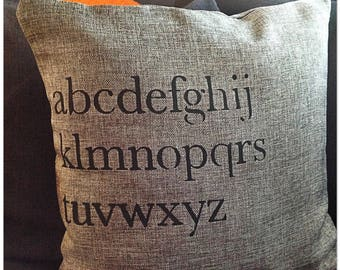 Alphabet Cushion Cover